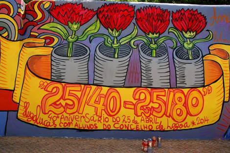 Mural 25 de abril em Lagoa_1