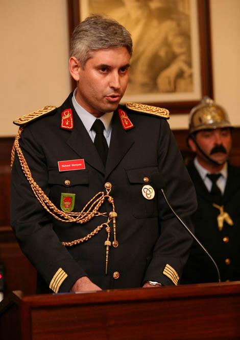 Richard Marques durante o discurso de tomada de posse - Arquivo CMP_Filipe da Palma