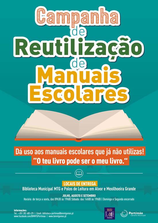 Cartaz Reutilização de Manuais Escolares