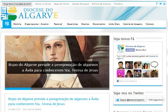 Novo Site Diocese do Algarve