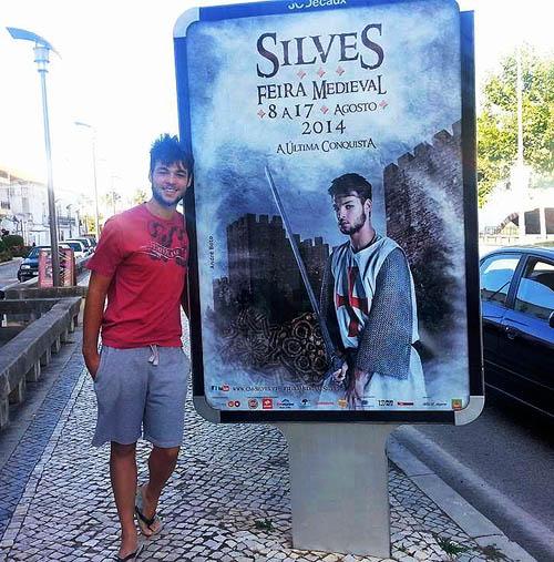 Um dos voluntários que, no ano passado, deu rosto à imagem da Feira Medieval de Silves