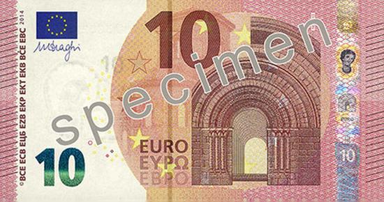 Nova nota de 10 euros