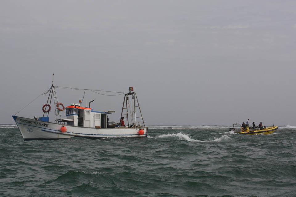 Operação de resgate da embarcação Patrício