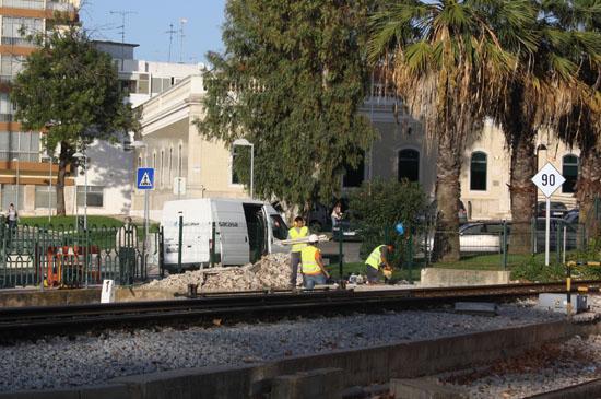 Obras na Linha do Algarve