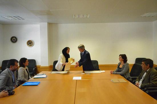 Assinatura protocolo UAlg e Bahar BS