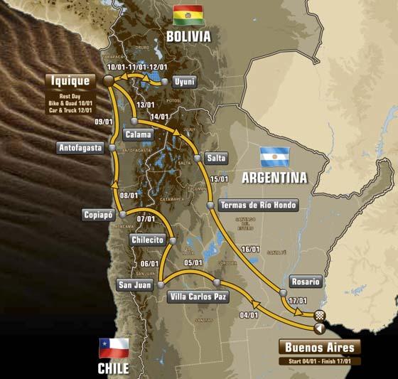 Dakar2015_percurso