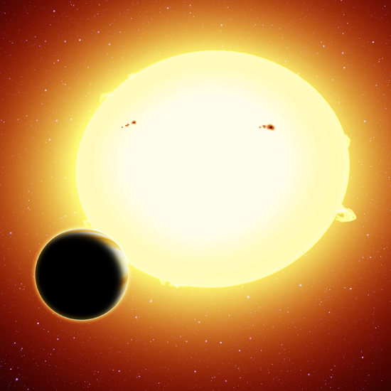 Imagem artística da super terra HIP 116454 b - Crédito Harvard-Smithsonian CfA