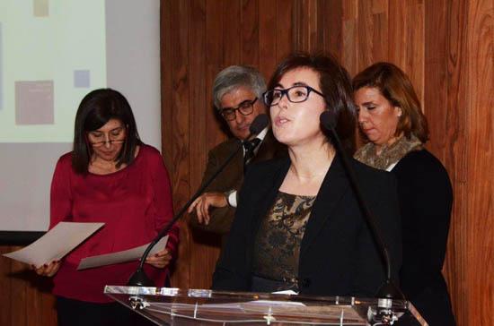 Maria Luísa Francisco na entrega dos Prémios APOM