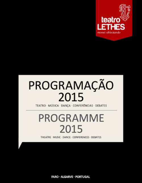 Programa Teatro Lethes 2015