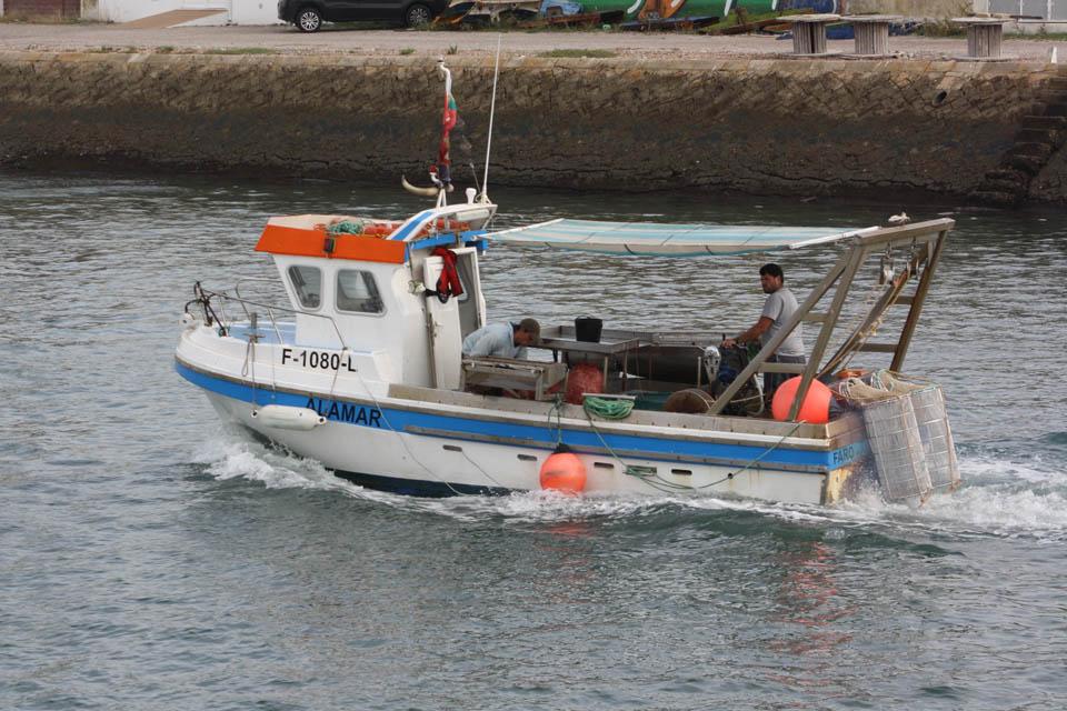Embarcação de pesca com arte da ganchorra de Olhão