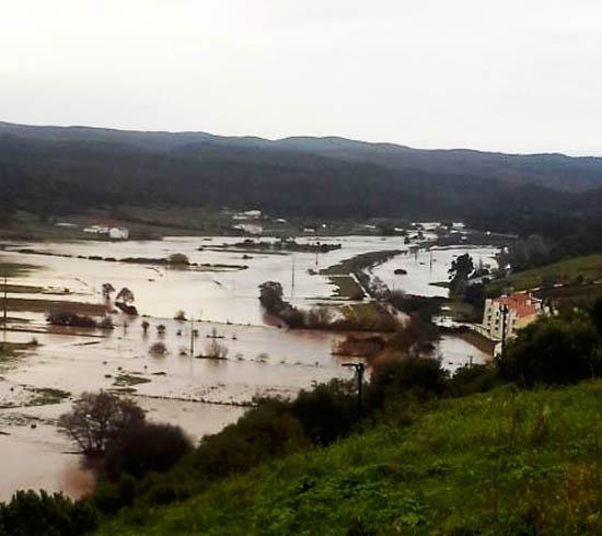 Várzea de Aljezur inundada - foto de Milton Sequeira