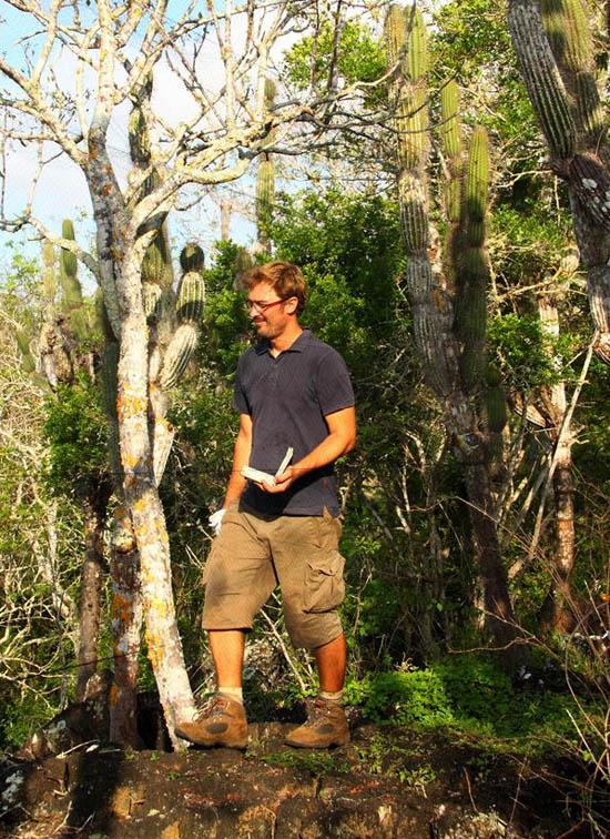 Ruben Heleno nas Galápagos