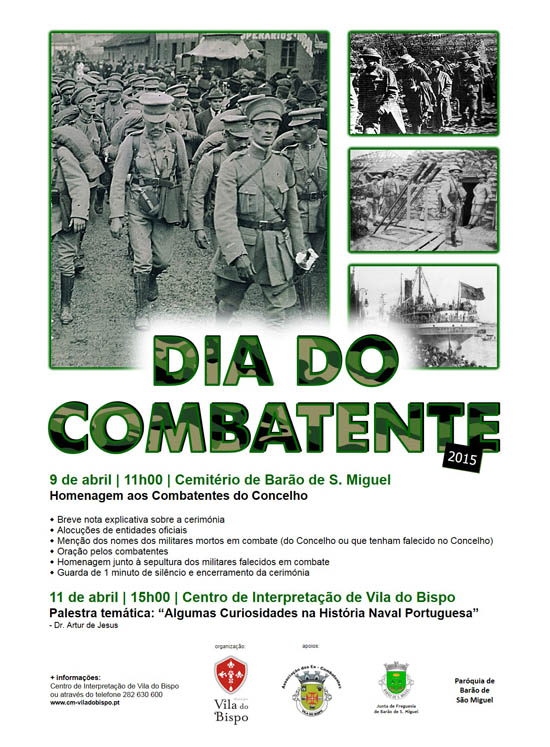 Cartaz Dia do Combatente - abril2015