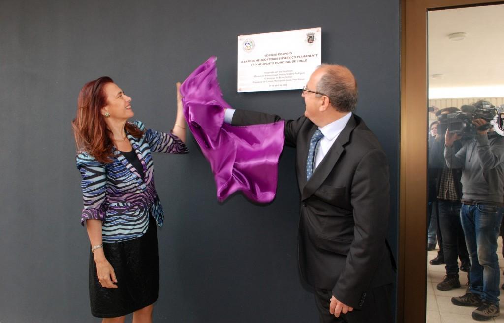 Inauguração do edifício de apoio à Base de Helicópteros em Serviço Permanente de Loulé com a presença da Ministra da Administração Interna em Loulé - C.M.Loule - Mira  (1)