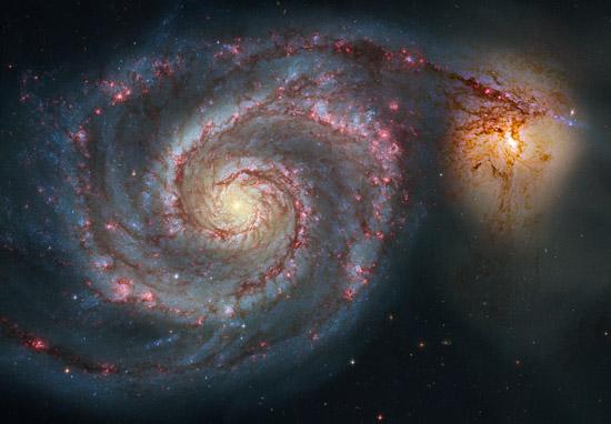 A espiral de uma galáxia fotografada pelo Hubble