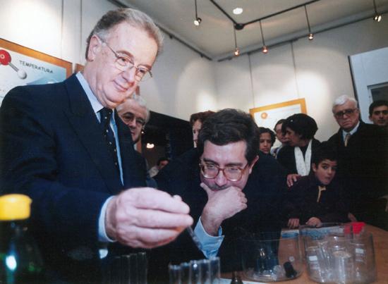 O ministro da Ciência Mariano Gago e o Presidente da República Jorge Sampaio na inauguração do CCVAlg, em Faro, em 1997