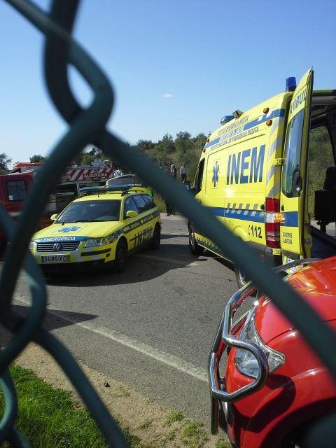 Acidente na EN125, junto ao AlgarveShopping - foto de Paulo Leandro Leal