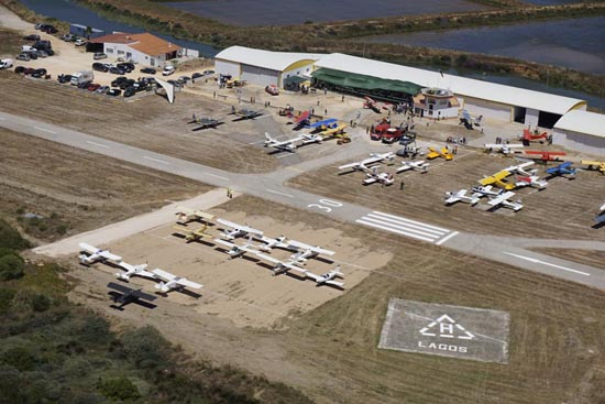 aeródromo visto do ar