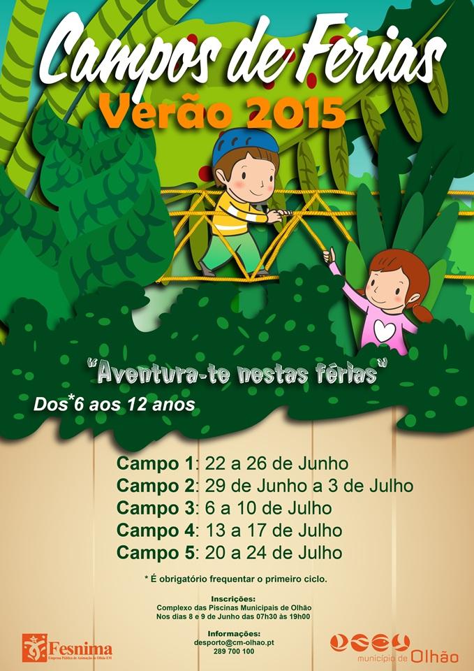 Campos Férias Verão Olhão 2015