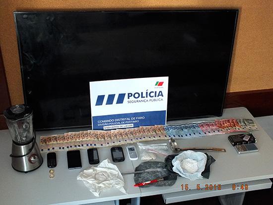 PSP Lagos detem dois traficantes de cocaina