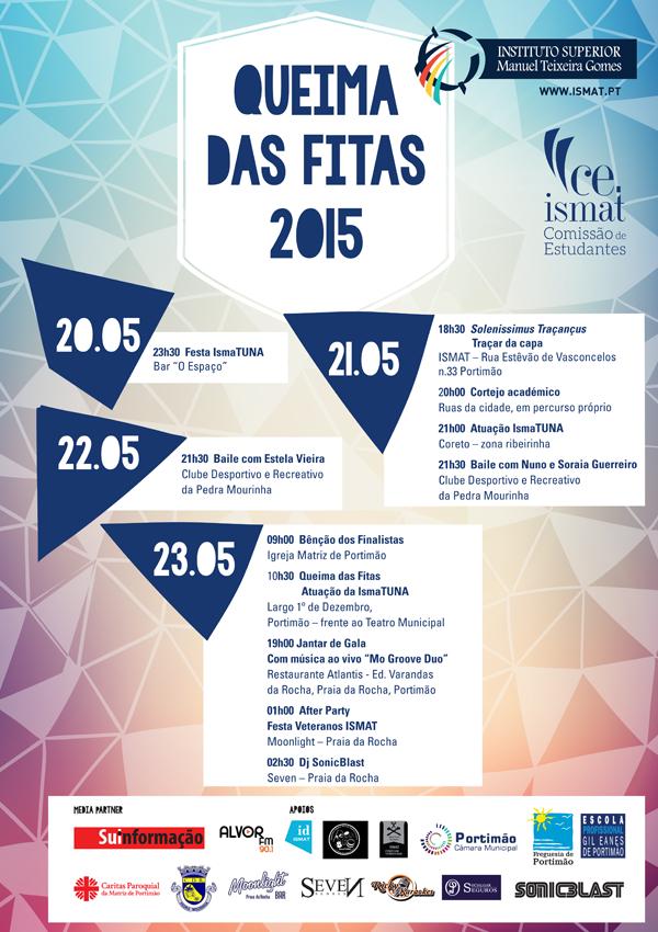 Queima das Fitas 2015 - cartaz