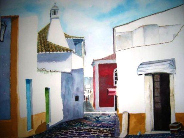 2010_aguarela_Passeio por Alcantarilha(59.5X74)