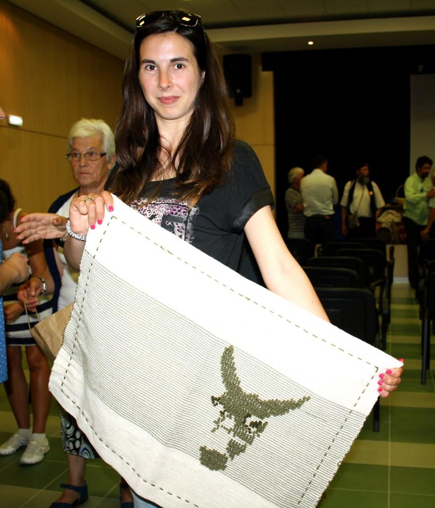 Elsa Martins aprendiz de tecelagem