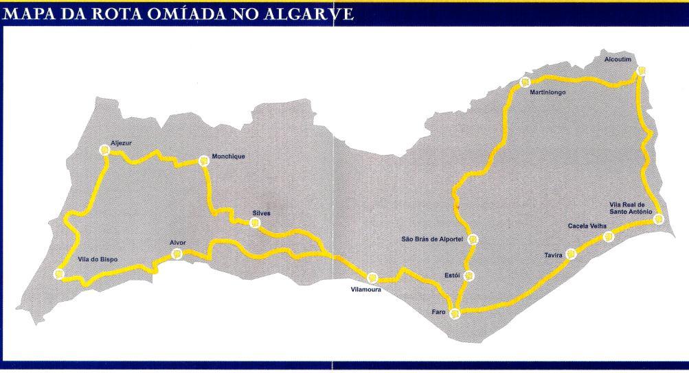 Mapa Rota Omíada