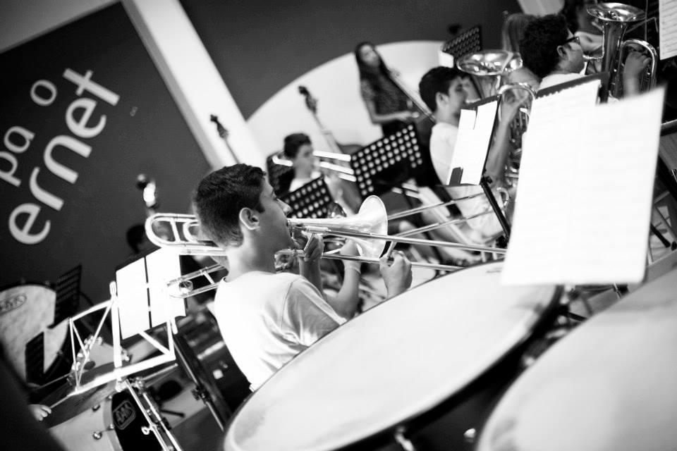 Estágio Sopros e Percussão em Lagoa 2015