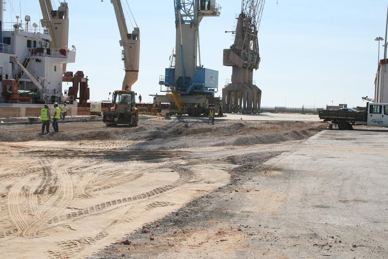obras no porto de faro