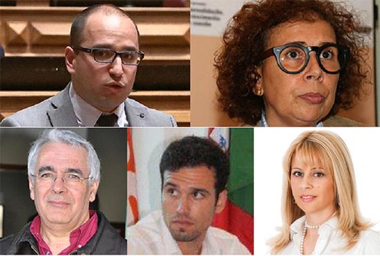 Candidatos da Coligação PSD CDS 5 a 9