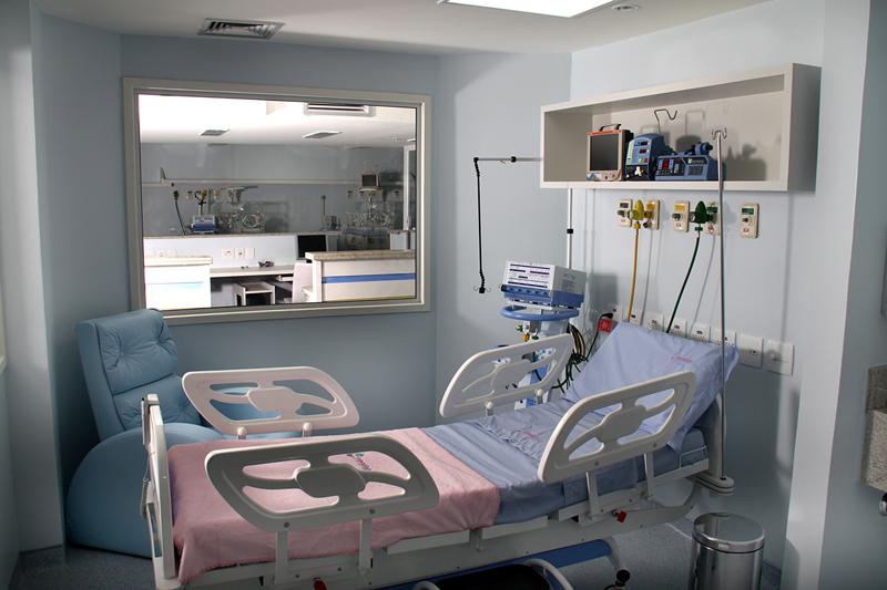 Exemplo de sala de Hospital com pressões negativas_DR