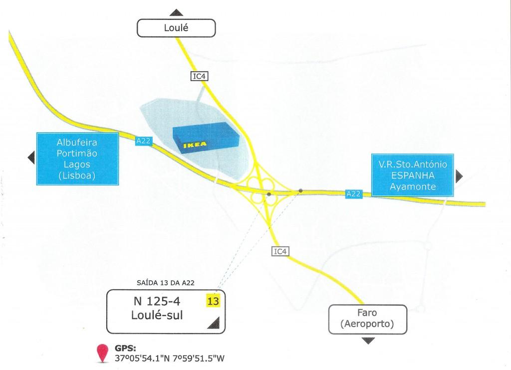 Localização IKEA Loulé
