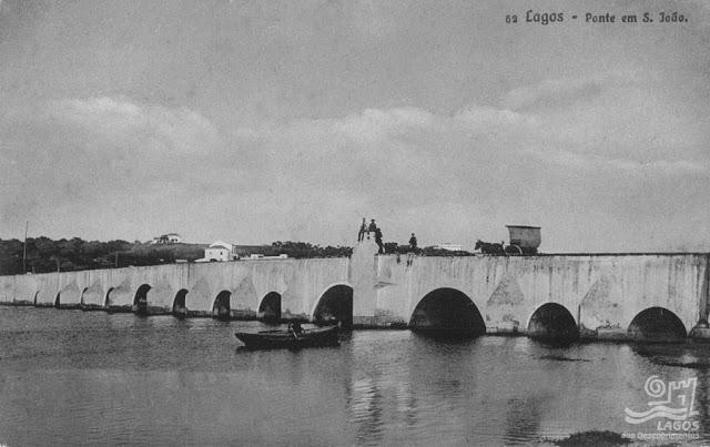 Ponte D. Maria, em Lagos, c.1913 | Foto de António Crisógono dos Santos | fonte Fototeca de Lagos |
