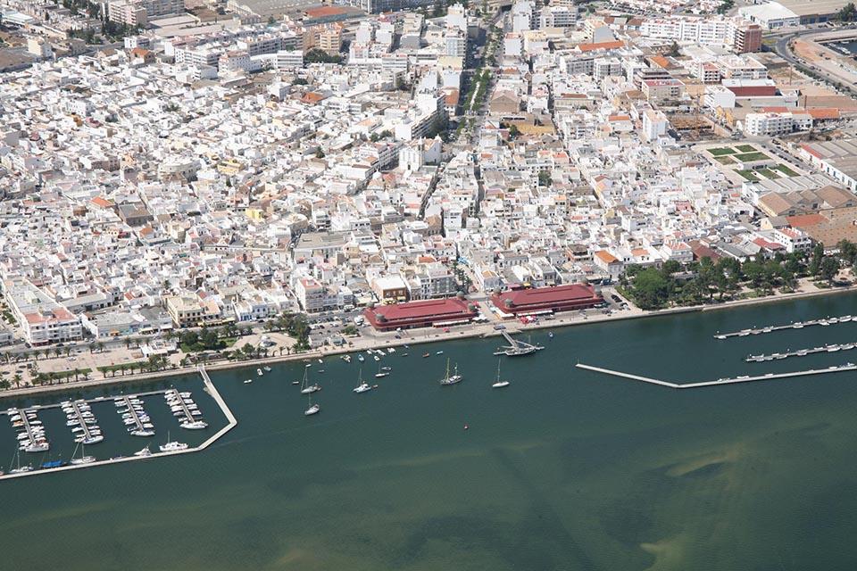 Vista aérea Olhão_press