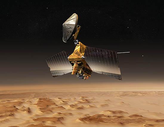 A sonda Mars Reconnaissance Orbiter, da NASA