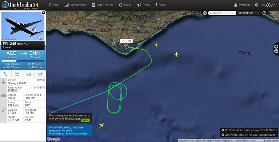 Avião aterra de emergência em Faro
