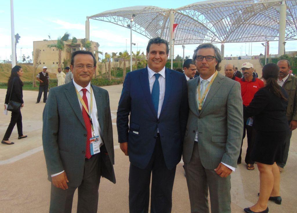 Carlos Silva e Sousa com Aziz Akhannouch, Ministro da Agricultura e Pesca Marítima do Reino de Marrocos
