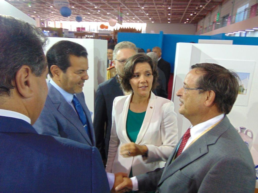Carlos Silva e Sousa com o Príncipe Moulay Rachid, irmão do rei Muhammad VI
