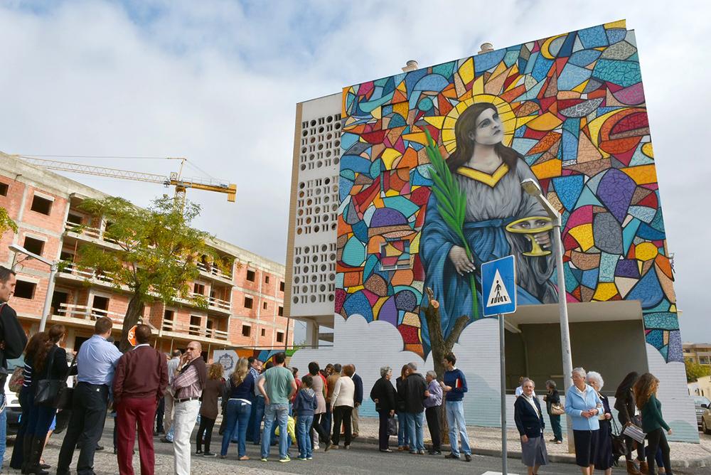Inauguração do Mural do Edificio no Bairro de Santa Luzia (2)