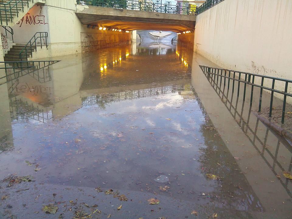 Túnel de Olhão Inundado
