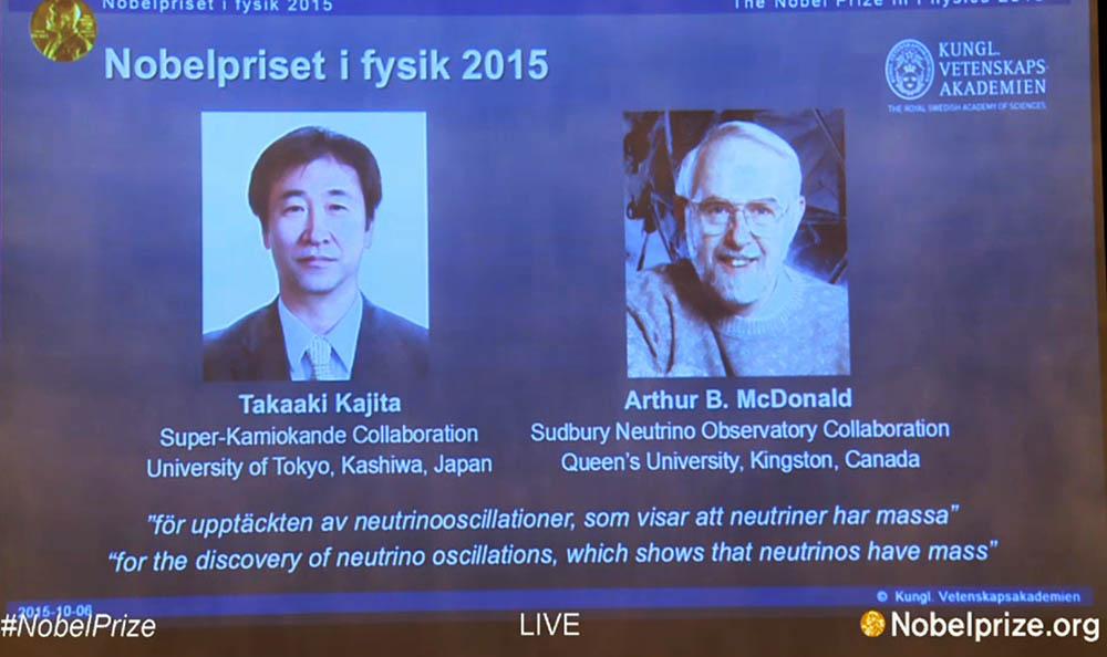 nobel fisica 2015