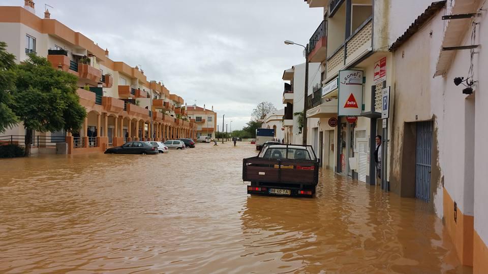 Cheias em Algoz - foto de Márcio Baptista
