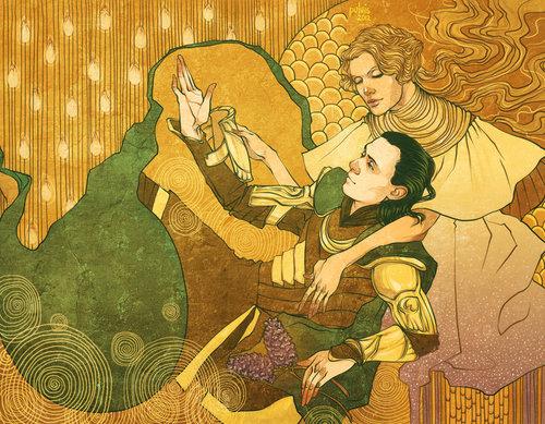 Frigga e Loki, figuras da mitologia nórdica ligadas à superstição da Sexta-Feira 13