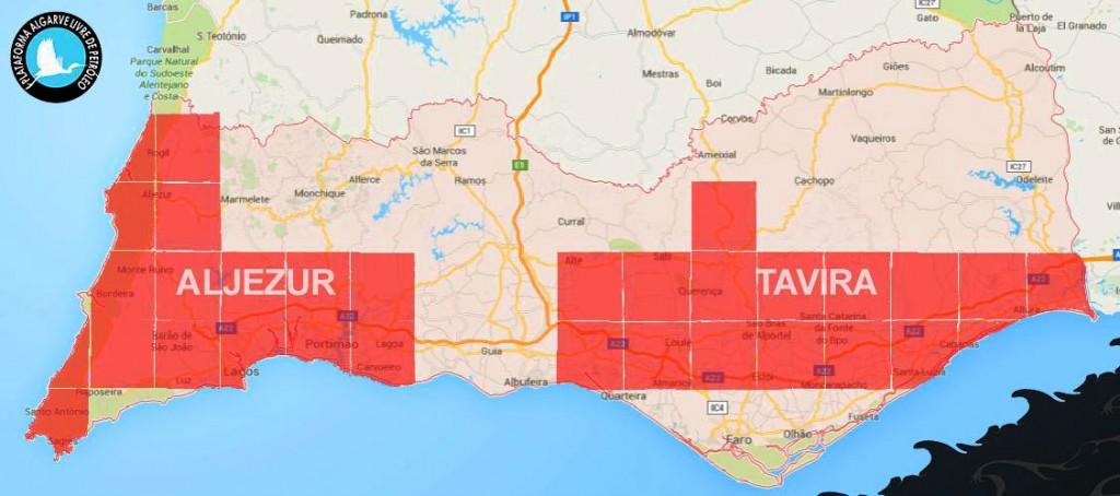 Áreas concessionadas para petróleo no Algarve