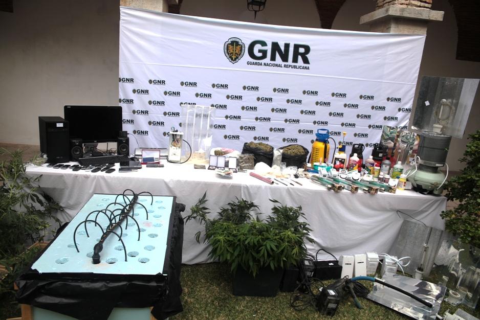 Apreensão de droga GNR São Brás de Alportel Dez 2015