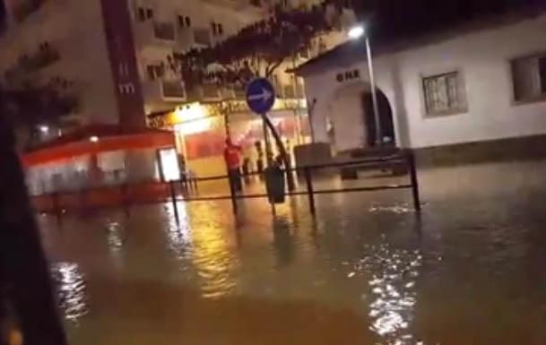 Inundações em Albufeira