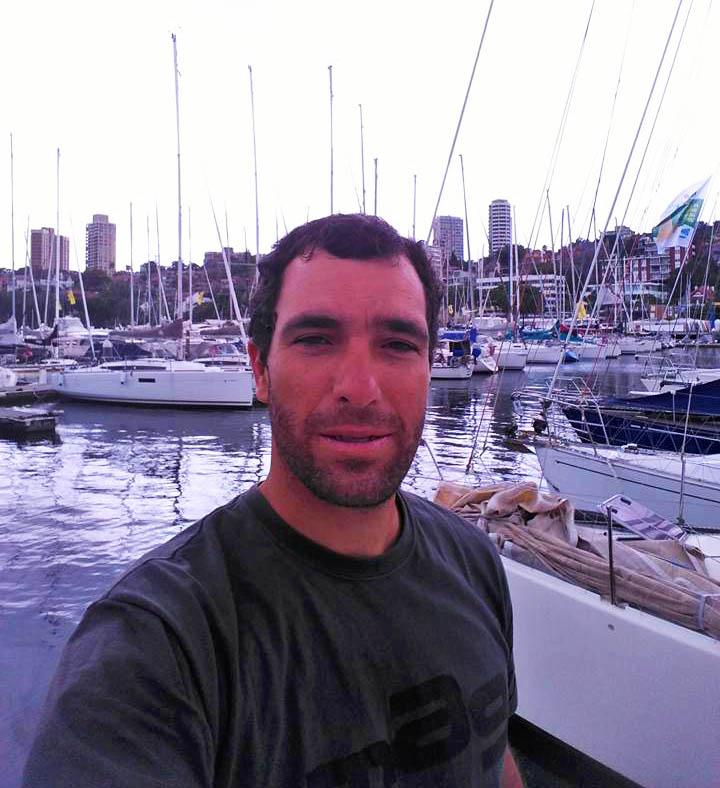 """Uma """"selfie"""" de Luís Brito, no porto de Sydney"""