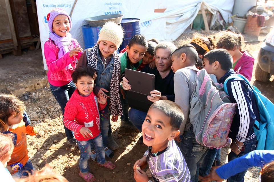Rui Marques num campo de refugiados do Líbano