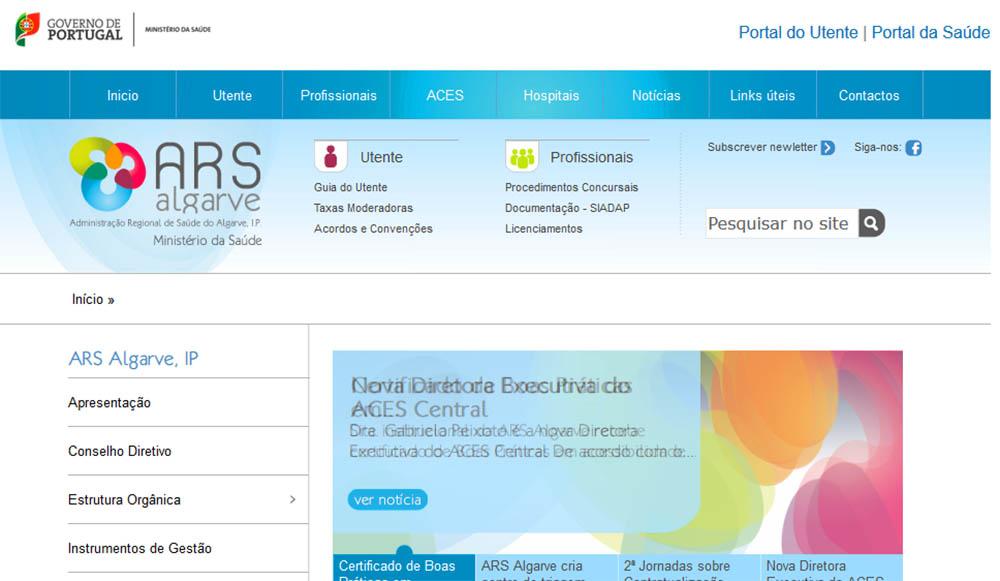site da ARS